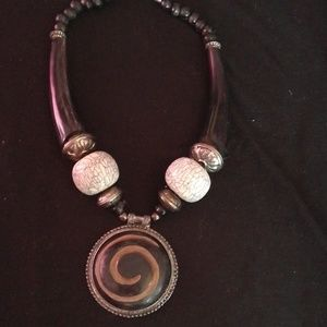 Jewelry - Vintage African inspired statement necklace